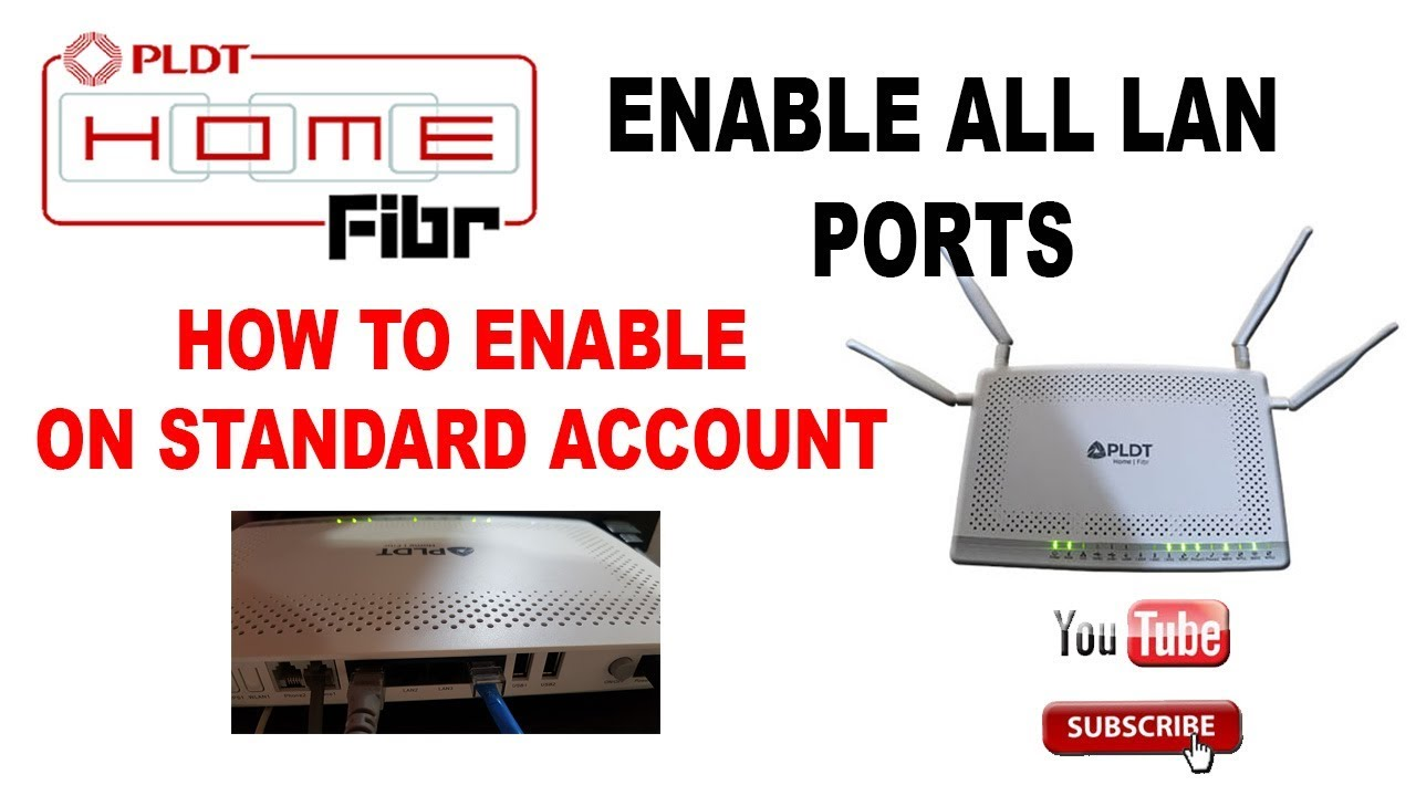 How To Enable Other Lan Port Pldt Fibr Updated Youtube Using Wireless Router Diagram