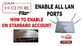 How to enable other LAN port PLDT Fibr - Updated