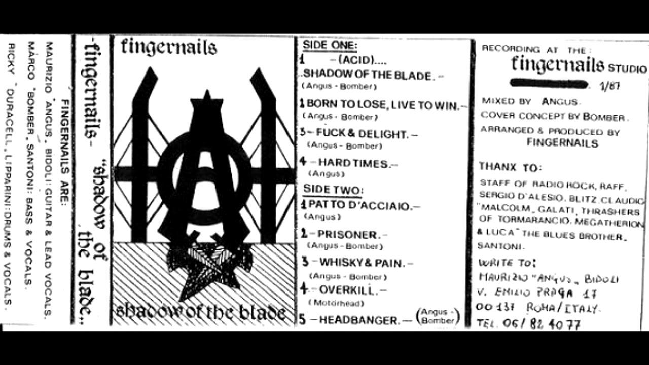 Fingernails - (Acid) Shadow Of The Blade Demo 1987 (Full Demo)