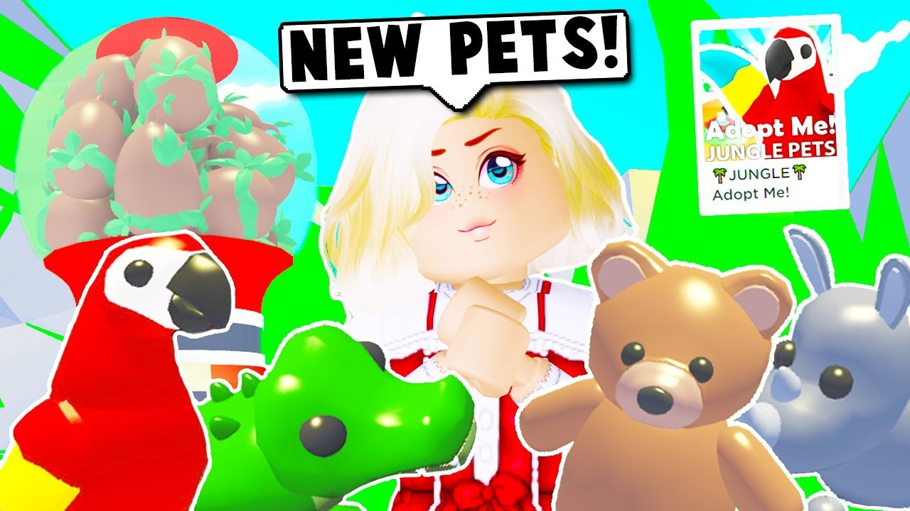 I BOUGHT ALL THE NEW JUNGLE PETS ON ADOPT ME (Roblox) YouTube