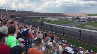 Alexander Rossi Celebrates Winning Indy 500 In Turn 4