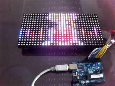 Fullcolor LED matrix(32x16) with Arduino