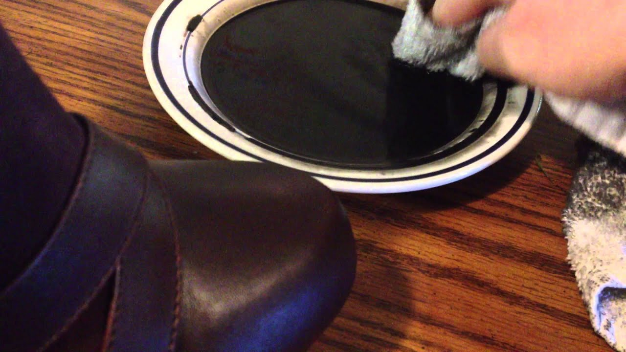 Dying Suede Leather Shoes