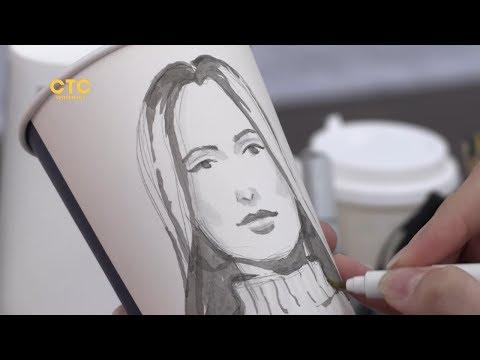 Выпить кофе и получить портрет на память