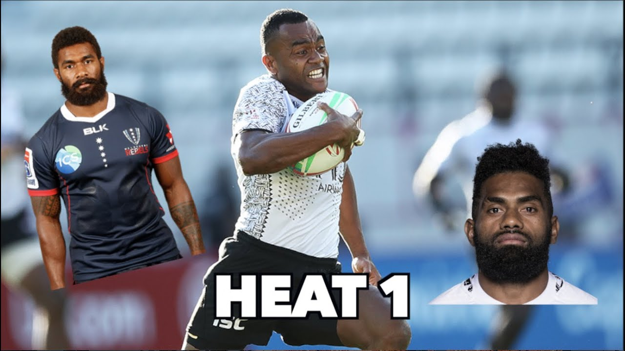 Who's the fastest Fijian Rugby Player? - Heat 1 of 4