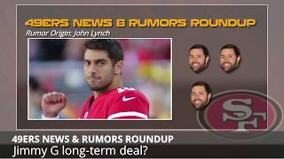 San Francisco 49ers Rumors: Jimmy Garoppolo Contract, Trumaine Johnson, & First Round Mock Draft