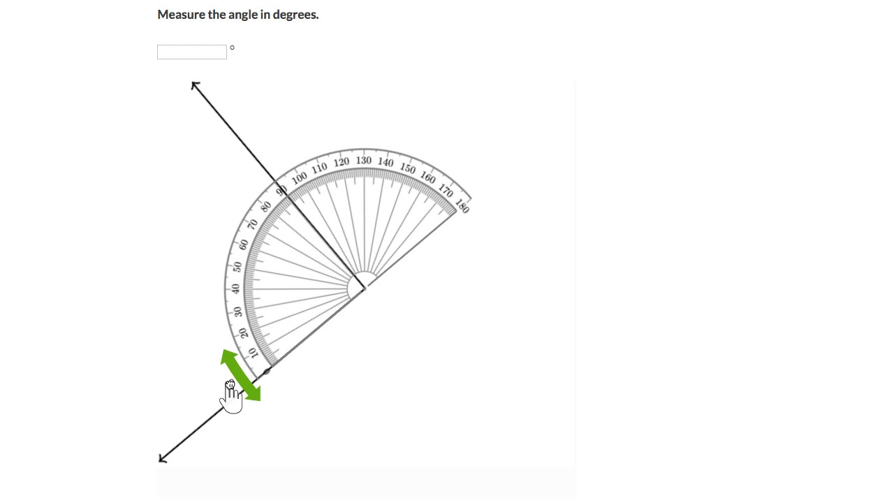 Measuring angles using a protractor (Hindi)