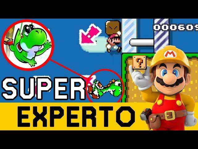 PARECÍA UN NIVEL INOFENSIVO....PARECÍA 😨 - SUPER EXPERTO NO SKIP | Super Mario Maker - ZetaSSJ