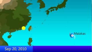 2010 West Pacific Typhoon Season Animation