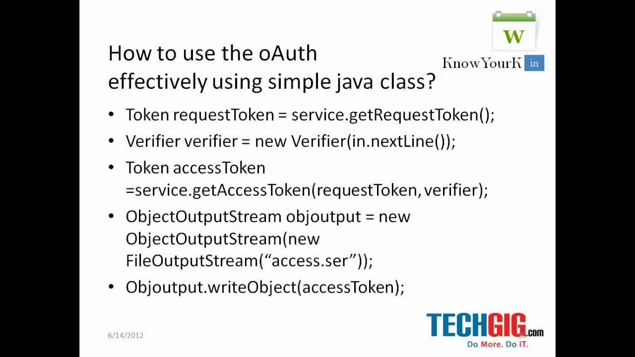 How to use the oauth effectively using simple java class youtube how to use the oauth effectively using simple java class baditri Gallery