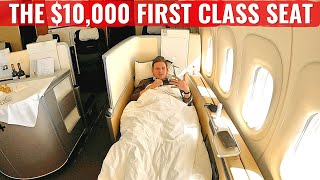 Review: LUFTHANSA FIRST CLASS on the 747-8 - The $10,000 Seat!