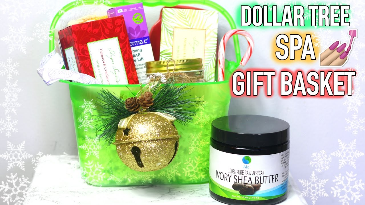 $1 HOLIDAY SPA GIFT BASkET GIFT IDEAS +PINK HIMALAYAN SALT u0026 SHEA BUTTER SCRUB!  sc 1 st  YouTube & $1 HOLIDAY SPA GIFT BASkET GIFT IDEAS +PINK HIMALAYAN SALT u0026 SHEA ...