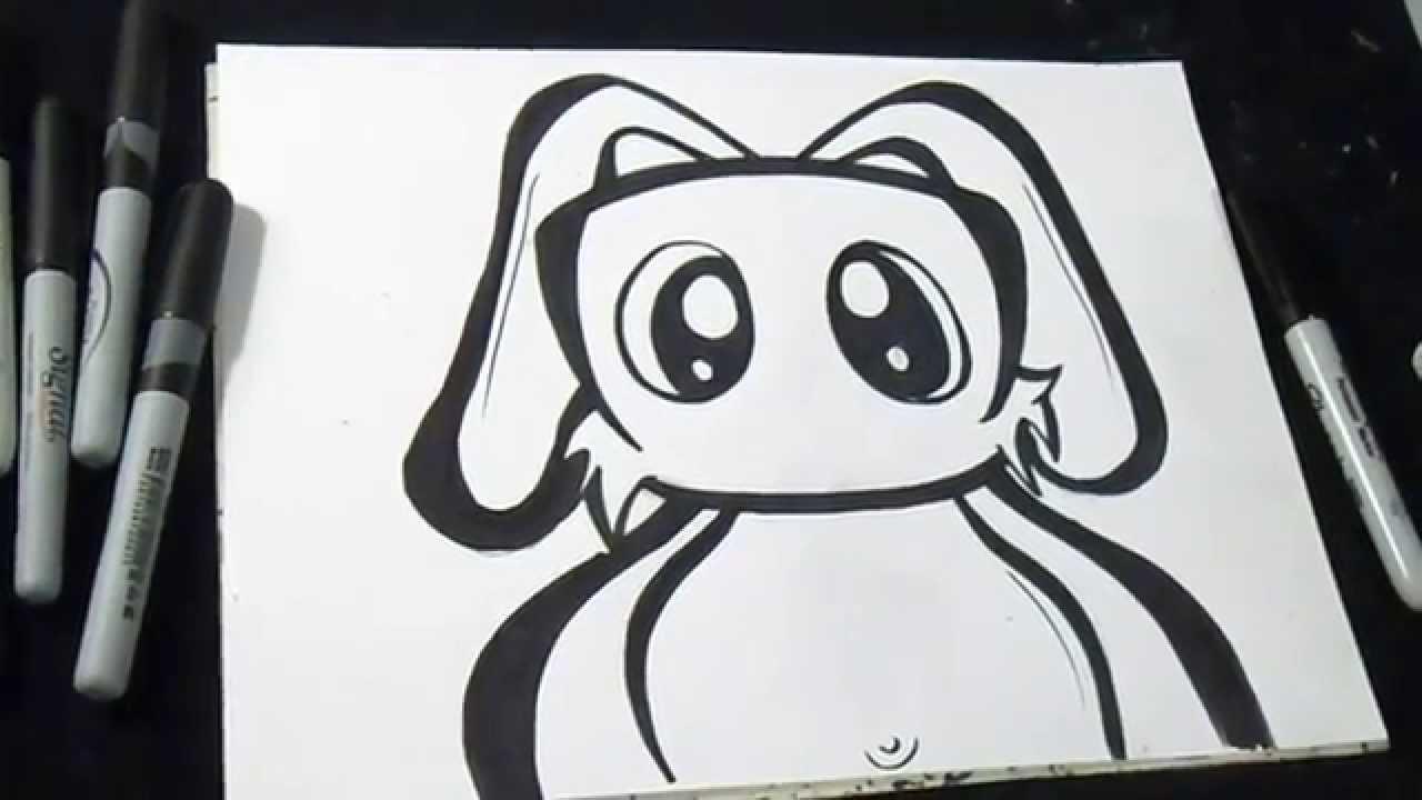 Come disegnare un coniglio graffiti youtube for Teschi da disegnare