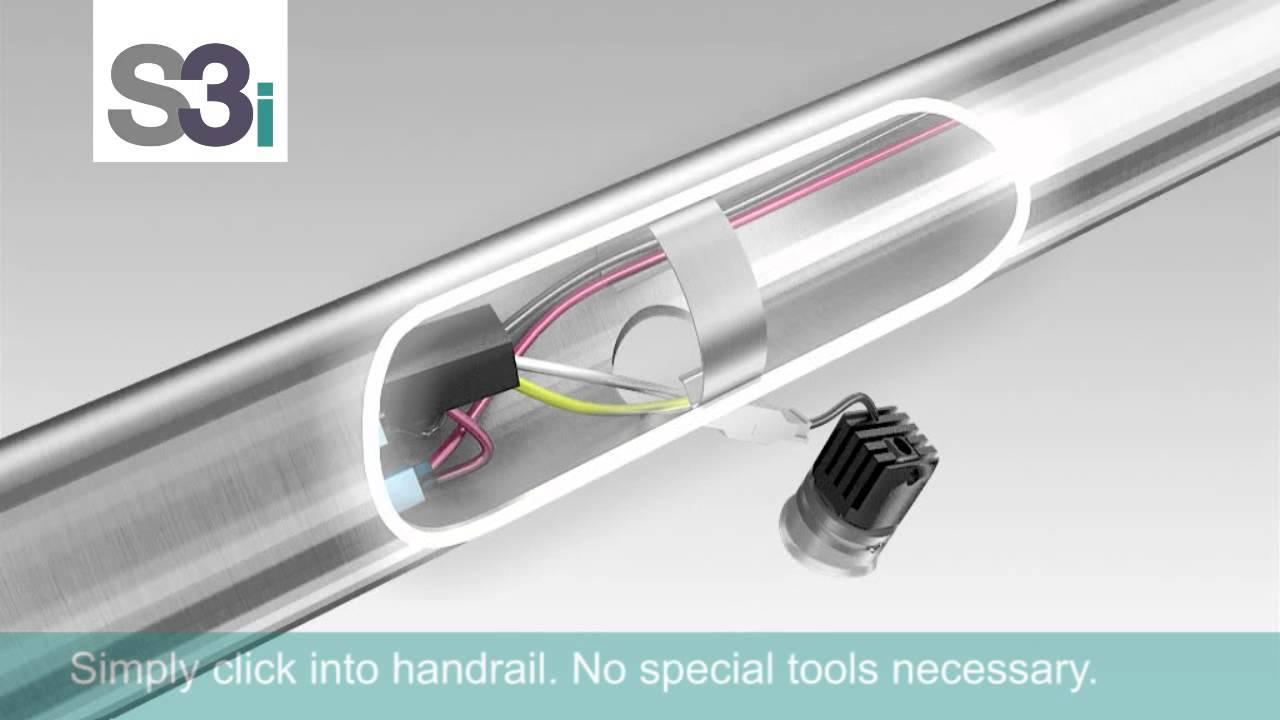 Led Handrail Lighting Youtube   Lighted Handrails For Stairs   Wrought Iron Railing   Minimal   Antique   Basement   Stair Banister