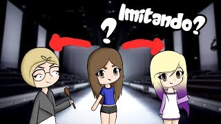 IMITATING ŁYNA AND THE GRANDMOTHER RITA IN ROBLOX | Melina