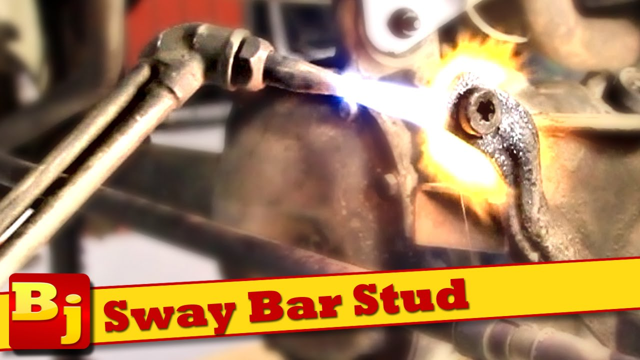 Stuck Sway Bar Stud Removal How To Youtube Inner Tie Rod Ball 2001 Dodge Ram 1500 4x4 Premium