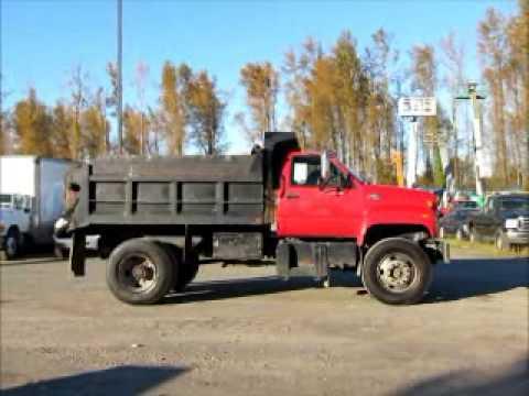 sold gmc c7500 s a 5 6 yard dump truck 7 4l v8 manual trans pto rh youtube com GMC C7500 Steering Gearbox GMC C8500 Owner's Manual
