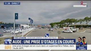 Une prise d'otages en cours dans un super U dans l'Aude, des coups de feu entendus