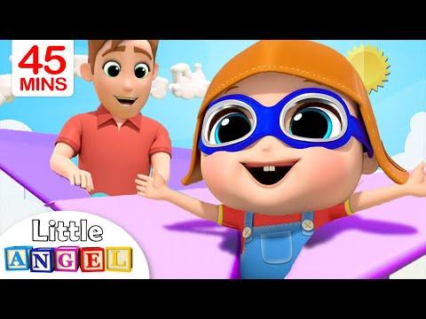 Playtime With Daddy | Little Angel Kids Songs & Nursery Rhymes