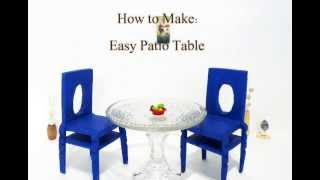 How To Make: Easy Patio Tables