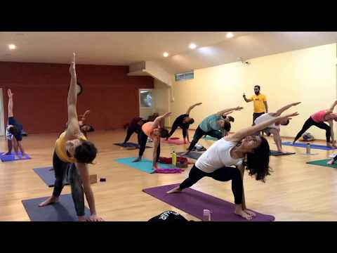 Hatha Yoga Traditional Practice with Yogacharya Rakesh - One Hour Full