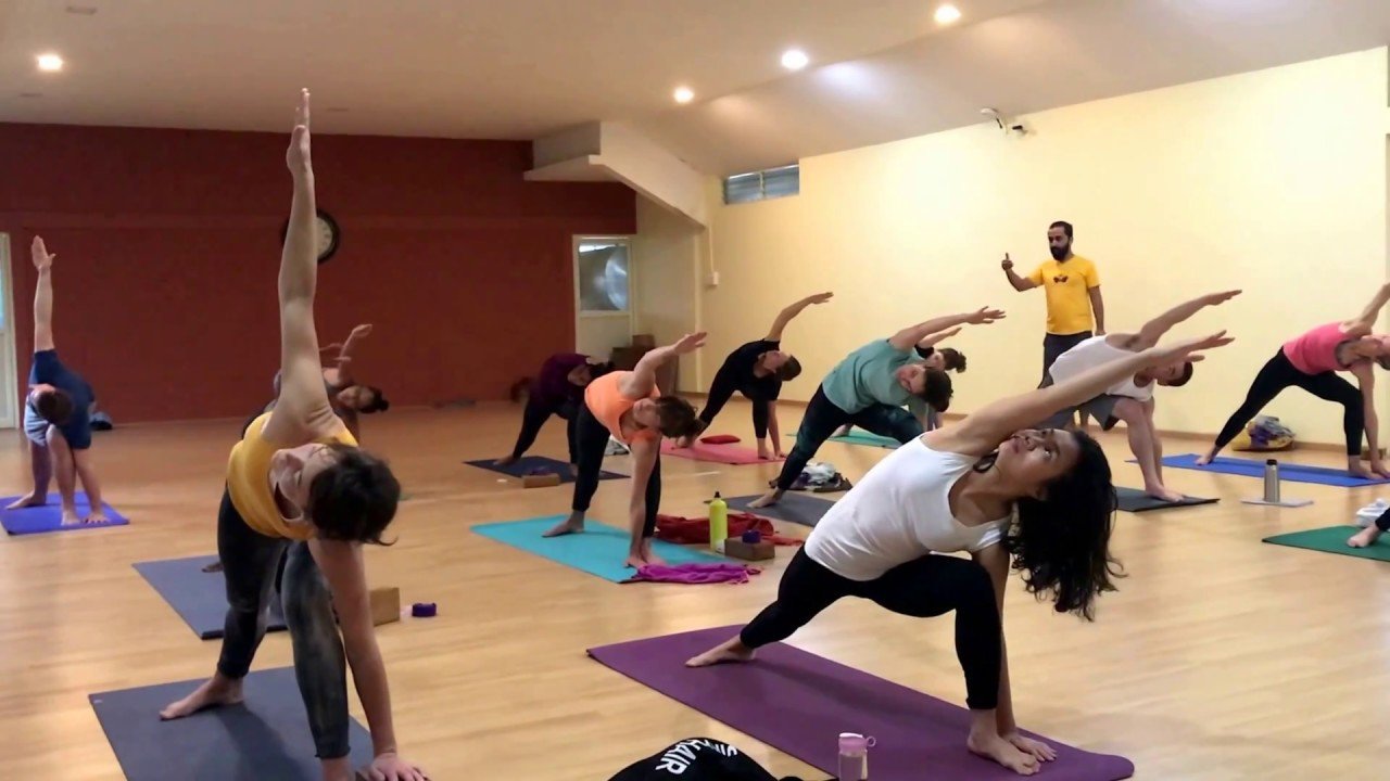 Hatha Yoga Traditional Practice With Yogacharya Rakesh One Hour
