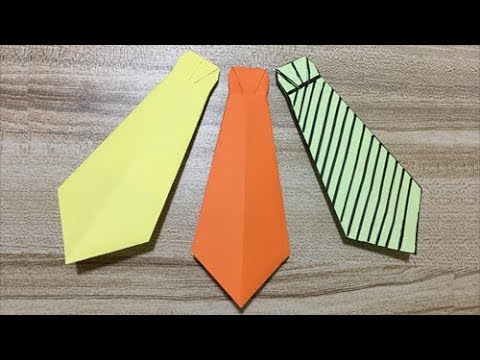 How to Make a Paper Neck Tie | Easy Origami Neck Tie With Step by Step