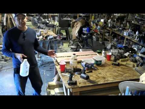 live edge cedar epoxy and rock table top