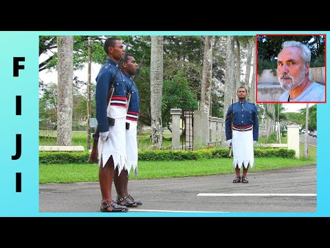 FIJI, CHANGING THE GUARD at the Presidential Palace in the capital SUVA