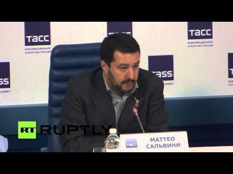 Sanzioni europee contro la Russia, Matteo Salvini intervistato dalla stampa russa