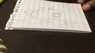 Drawing a funny car