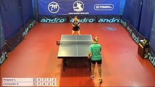 Настольный теннис матч 220918   16  Долгая Лилиана Литвиненко Елена 5-6 место