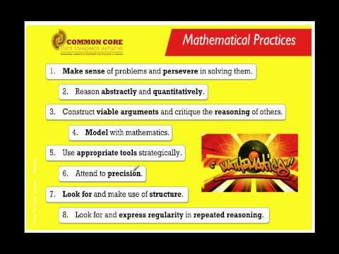 Common core standards mathematical practices part 1 of 2 youtube
