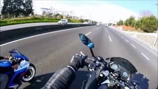 cb650f wheelie with friends