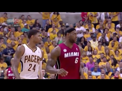 Paul George Exposes LeBron's Overrated Defense - 2013 NBA ECF