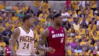 Repeat youtube video Paul George Exposes LeBron's Overrated Defense - 2013 NBA ECF