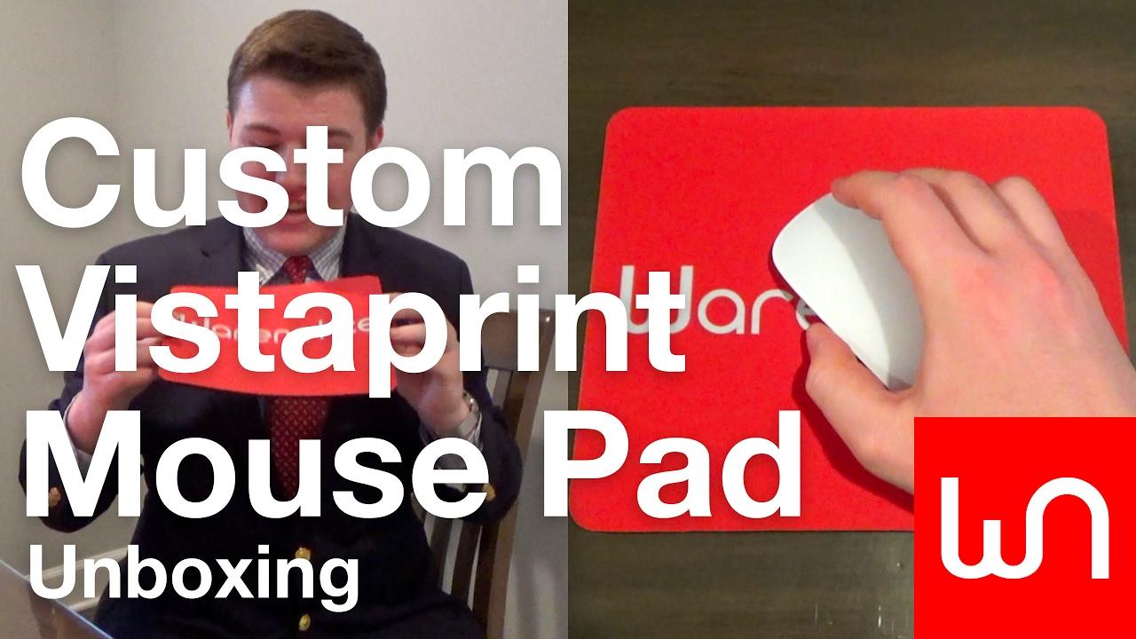 custom vistaprint mouse pad unboxing youtube