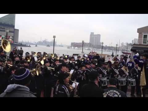 Baltimore Marching Ravens at Ravens Super Bowl XLVII Send O