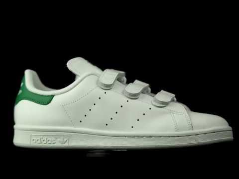 22565059c22 Adidas Originals Stan Smith blanco-verde con velcro. - YouTube