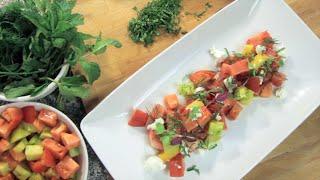 Watermelon Goat Cheese Salad | Rule Of Yum Recipe