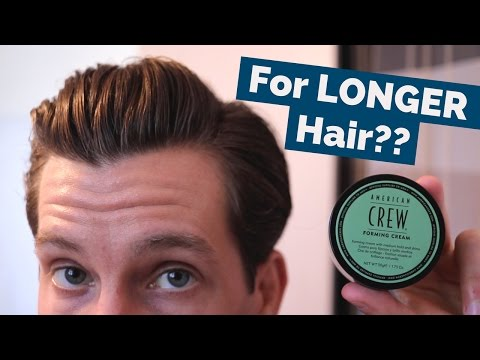 American Crew Forming Cream Review | Thick Hair Side Part