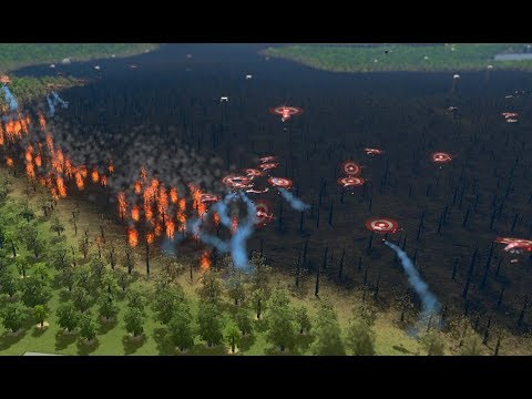 Cities: Skylines - 250 Fire Helicopter Vs Big Forest Fire