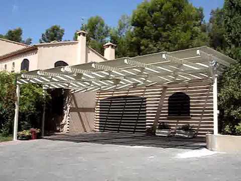 Pergola aluminium lames orientables youtube for Pergola aluminium castorama