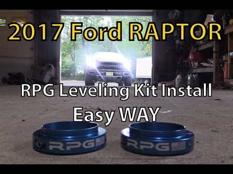 2017 Ford F150 Raptor RPG Coil Spring Perch Collar Leveling Kit Install. THE EASY And FAST WAY