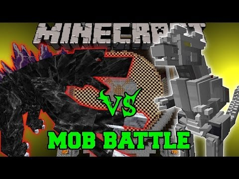 MOBZILLA VS MECHAGODZILLA (KIRYU) - Minecraft Mob Battles - OreSpawn and Godzilla Mods