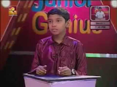 Genius Kid At Calculations at Junior Genious | India Kerala Malayalam - Richardstanley98