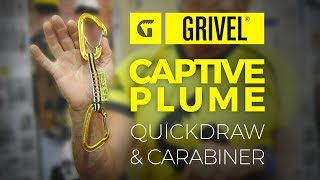 Grivel Captive Plume carabiner and quickdraw