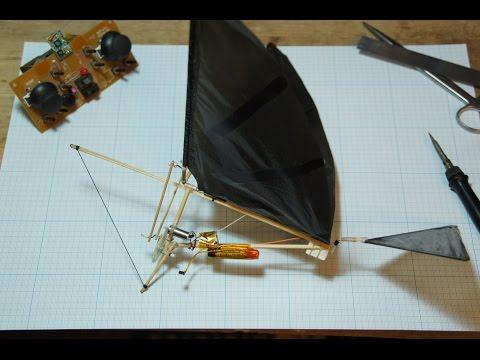 Собираем простой радиоуправляемый орнитоптер./How to make a simple RC Ornithopter