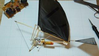 Собираем простой радиоуправляемый орнитоптер./How to make a simple RC Ornithopter(Подробное видео о том, как сделать простой орнитоптер на радиоуправлении. Электроника и компоненты: Двига..., 2016-05-09T17:45:27.000Z)