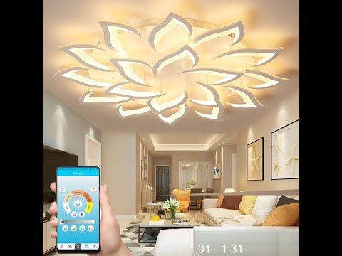 How to Install The Modern Smart LED Lotus Chandelier With Remote Controller